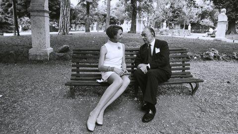 Anneliese Friedmann mit Erich Maria Remarque