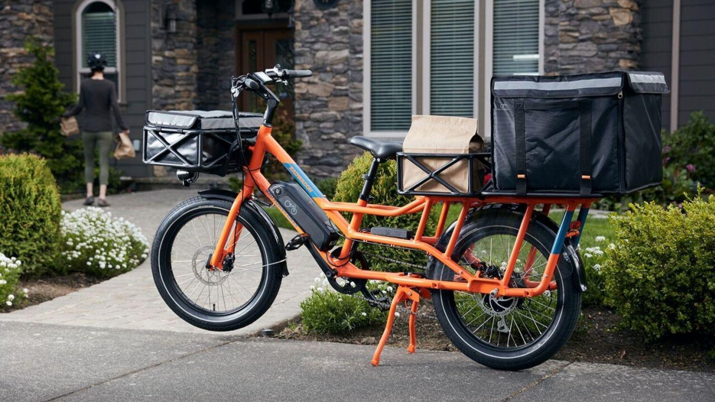 Hier wurde das Rad zum Einkaufs- oder Lieferrad aufgerüstet.