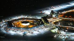 Berlin: Flughafen Tegel  Seit dem 8. November2020 ist mit dem Umzug des Flugverkehrs zum endlich eröffneten Hauptstadtflughafen der Betrieb in TXL eingestellt. Der sechseckige Bau von 1972 war ein Airport der kurzen Wege, ein Entwurf der Architekten Gerkan, Marg und Partner, ausgelegt für ursprünglich 10 Millionen Passagiere. Doch 2019 wurden mehr als 24 Millionen Fluggäste gezählt.