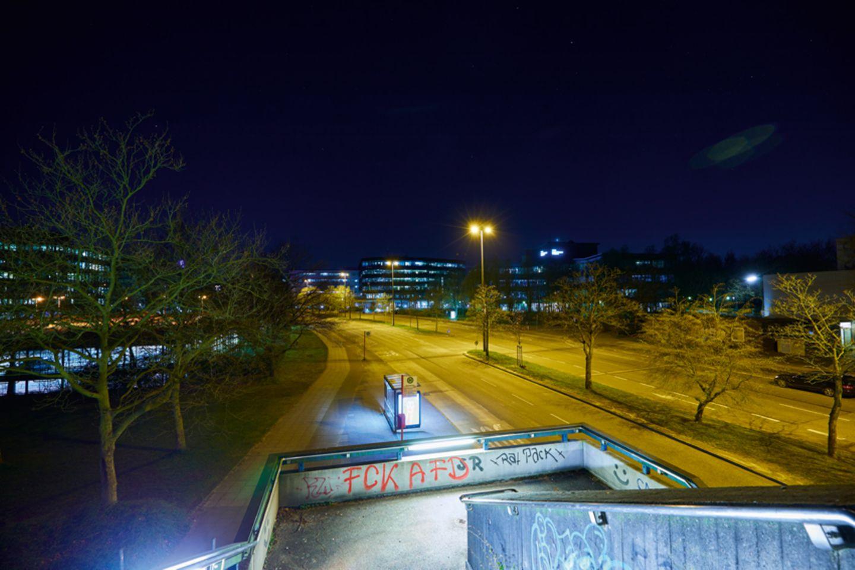 Fotografie: Der Überseering im Norden von Hamburg