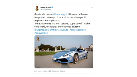 Italien: Lamborghini Huracán der Staatspolizei