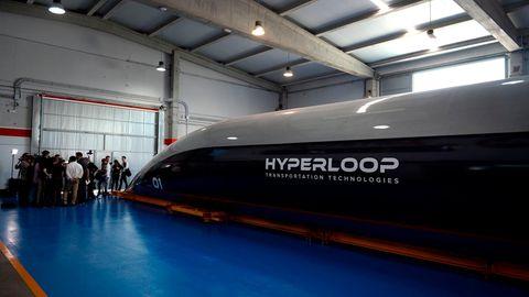 Virgin Hyperloop: Außenansicht der Hochgeschwindigkeitskapsel