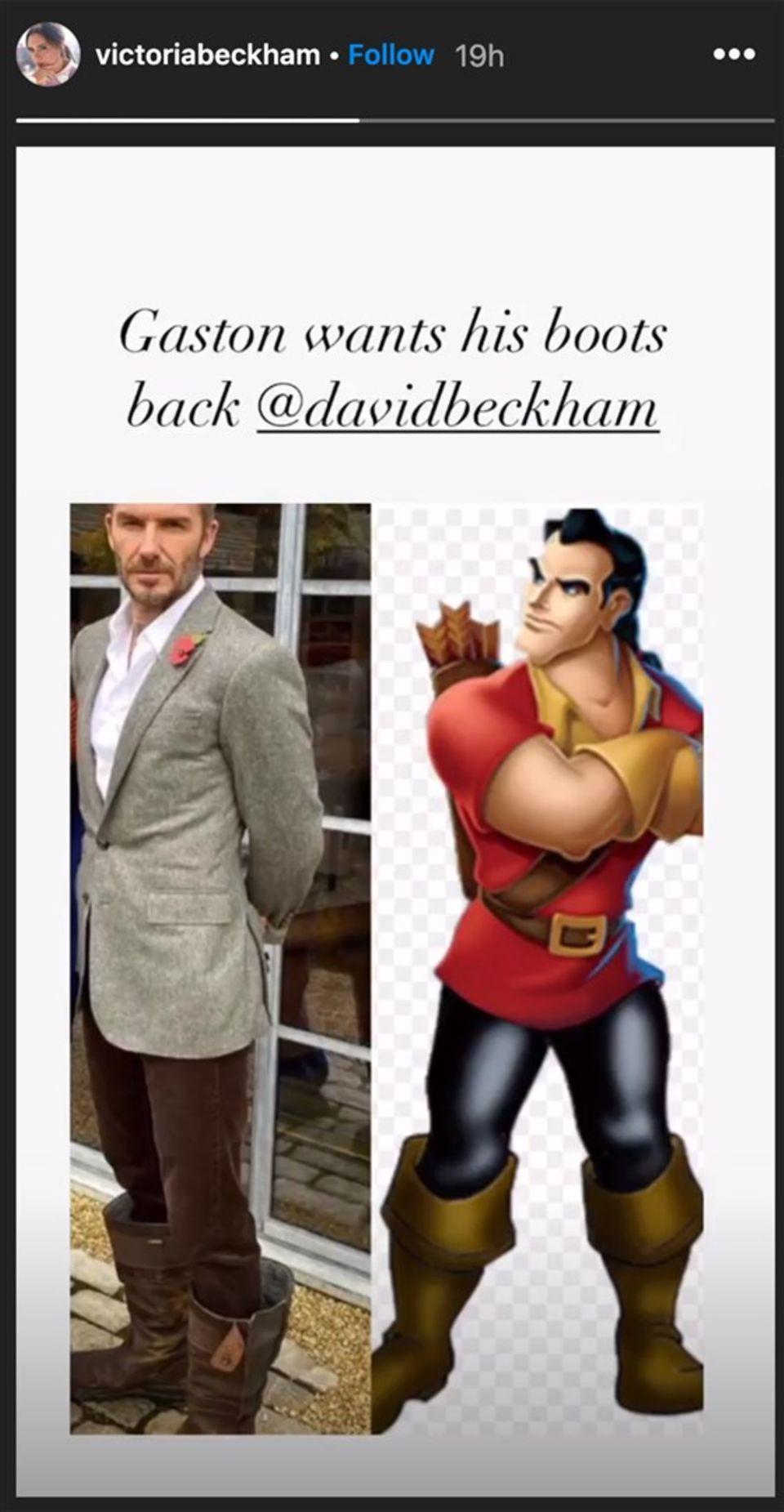 """Victoria Beckham vergleicht ihren Mann mit Gaston aus """"Die Schöne und das Biest"""""""