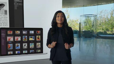 Apple-Managerin Shruti Haldea stellte das neue Macbook Pro vor
