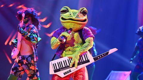 """Hat ausgequakt: Der Frosch auf der Bühneder ProSieben-Show """"The Masked Singer"""""""