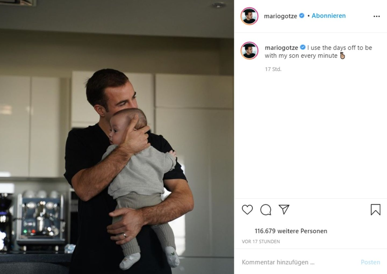 Vip News: Mario Götze zeigt sich mit Sohn Rome