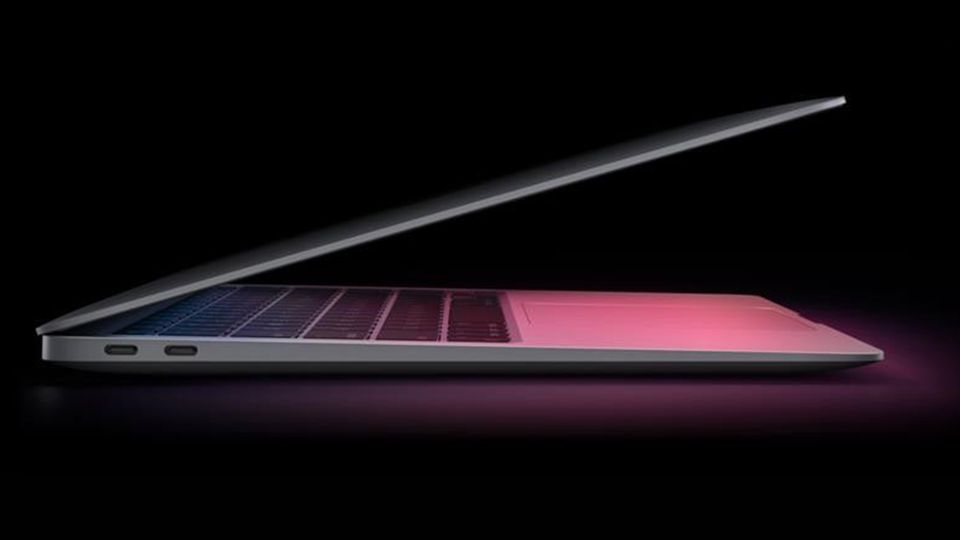 Das neue Macbook Air hat zwei USB4-Buchsen auf der Seite