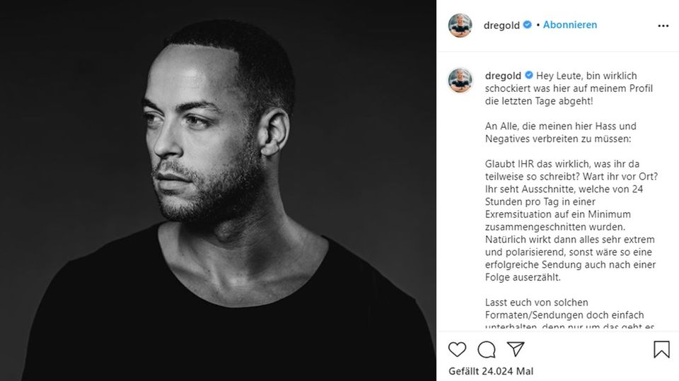 Andrej Mangold veröffentlicht Hasskommentare