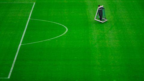 Blick auf Trainingsplatz des FC Schalke 04