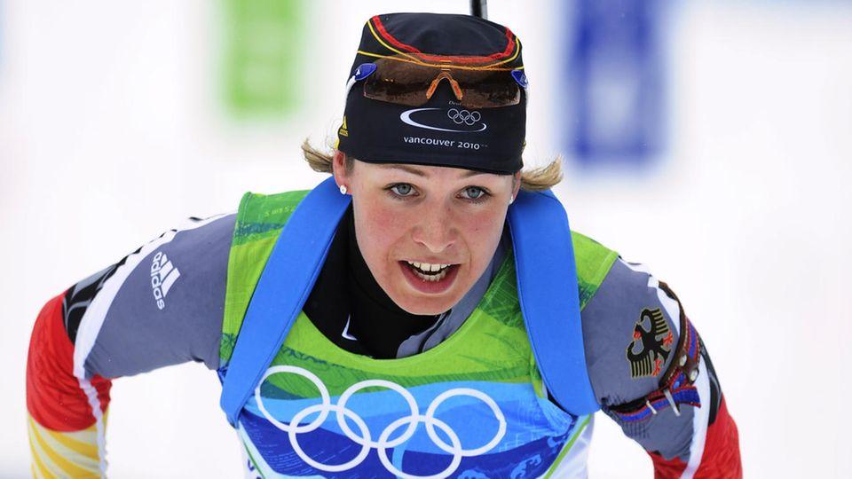 Ehemalige Olympiasiegerin: Sie war der größte deutsche Biathlon-Star – was macht eigentlich Magdalena Neuner?