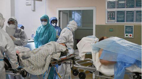 Moskau, Russland: Das Krankenhaus Nr. 15 ist nur noch Corona-Patienten vorbehalten.