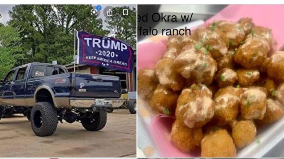 Wer eine Trump-Flagge abgibt, erhält ein leckeres Hühnchen-Gericht.
