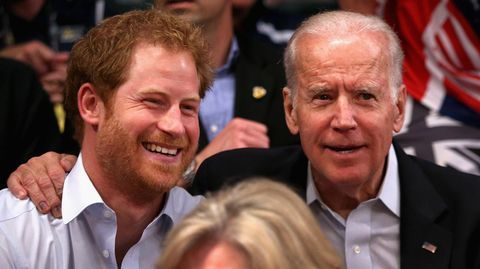 Prinz Harry und Joe Biden