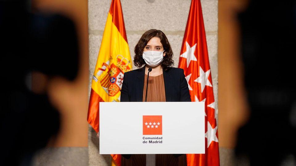 Isabel Diaz Ayuso, die Präsidentin der Regionalregierung von Madrid