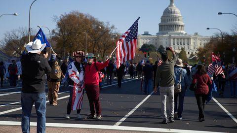 """Die Zahlen zum """"Million MAGA March"""" wurden vom Trump-Team zunächst kräftig aufgeblasen"""