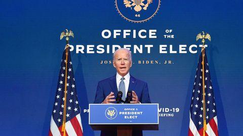 Joe Biden, gewählter US-Präsident und designierter Nachfolger von Donald Trump