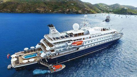 """Die beiden """"Sea Dream""""-Schiffe des norwegischen Unternehmers Atle Brynestad sind jeweils für maximal 112 Passagiere und 95 Besatzungsmitglieder ausgelegt."""