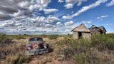 Den alten Packard von 1948 mit eingeschossener Windschutzschiebe stöberte Niehues auf einem Grundstück in New Mexiko auf.