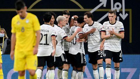 DFB-Elf im Spiel gegen die Ukraine