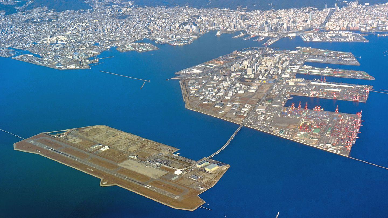 Japan: Kobe Airport (UKB)  Dieser Airport gehört zu den neuen Großflughafen in Japan wie auch Kansai oder Nagoya, die auf einer künstlichen Insel errichtet wurden. Allerdings senkt sich der Untergrund und muss nachverdichtet werden.