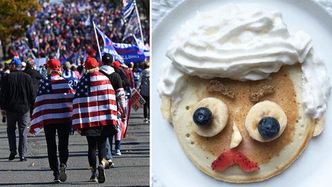 Trump-Protest: Twitter-User fluten Trump-Hashtag mit Pfannkuchen-Bildern