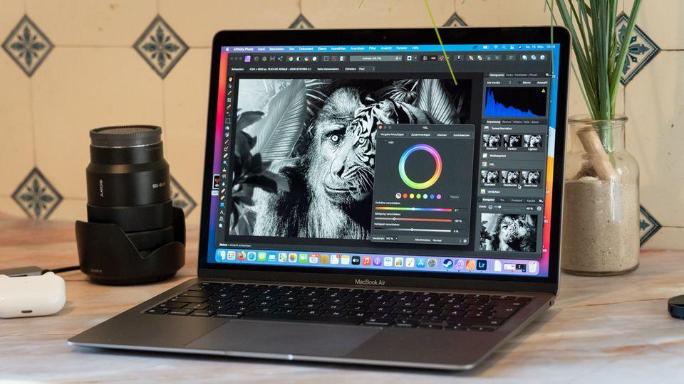 Die Bildbearbeitungs-Software Affinity Photo läuft ohne Probleme auf dem Macbook Air mit M1-Chip.