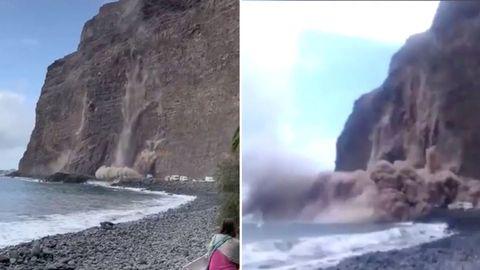 La Gomera: Küstenteil stürzt ins Meer