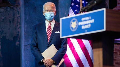 Joe Biden, der gewählte US-Präsident und designierter Nachfolger von Donald Trump