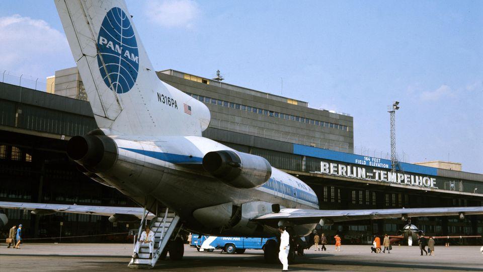 Eine Boeing 727von Pan American Airways in Berlin-Tempelhof