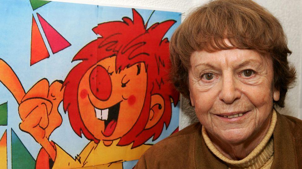 Schöpferin Ellis Kaut mit ihrem rothaarigen Freund Pumuckl