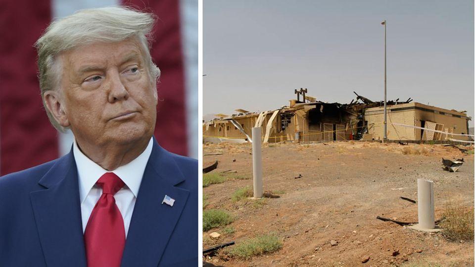 Kombo: Donald Trump und die iranische Atomanlage Natans
