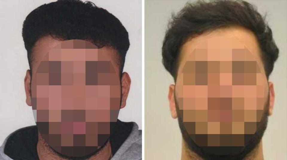 Die Polizei fahndete nach Abdul Majed R. (l.) und Mohammed R.