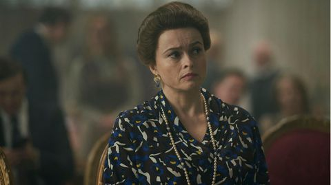 "Helena Bonham-Carter in ""The Crown"""