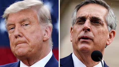 Kombo: Donald Trump und Brad Raffensperger