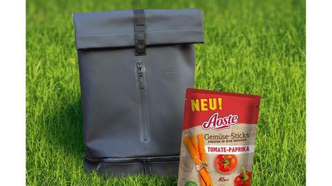 Gewinnspiel: Lecker für den kleinen Hunger unterwegs: Trendrucksack mit knackigen Gemüse-Sticks von Aoste