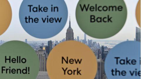 Blick von der AussichtsplattformTop of The Rock zum Empire State Building in New York City