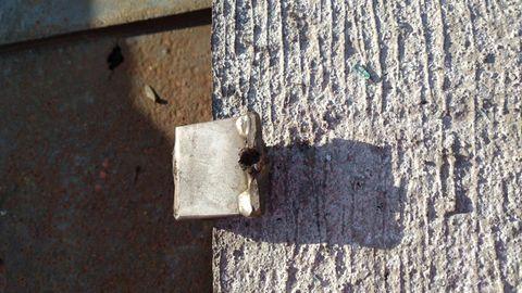 Nachrichten aus Deutschland: Bruchstelle an der Betonplatte einer Lärmschutzwand