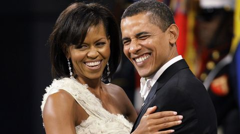 Barack und Michelle Obama auf einem Ball zu den Feierlichkeiten seiner Amtseinführung im Januar 2009