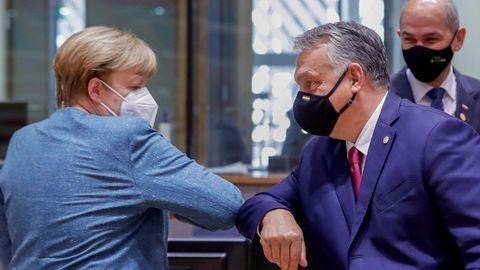 Bundeskanzlerin Angela Merkel (CDU) und Viktor Orban, Premierminister von Ungarn