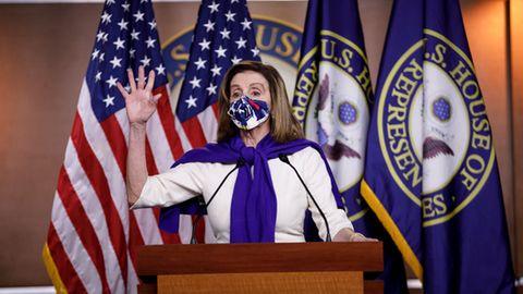 Die 80-jährige Demokratin Nancy Pelosibleibt weiter die Nummer drei an der Spitze der USA.