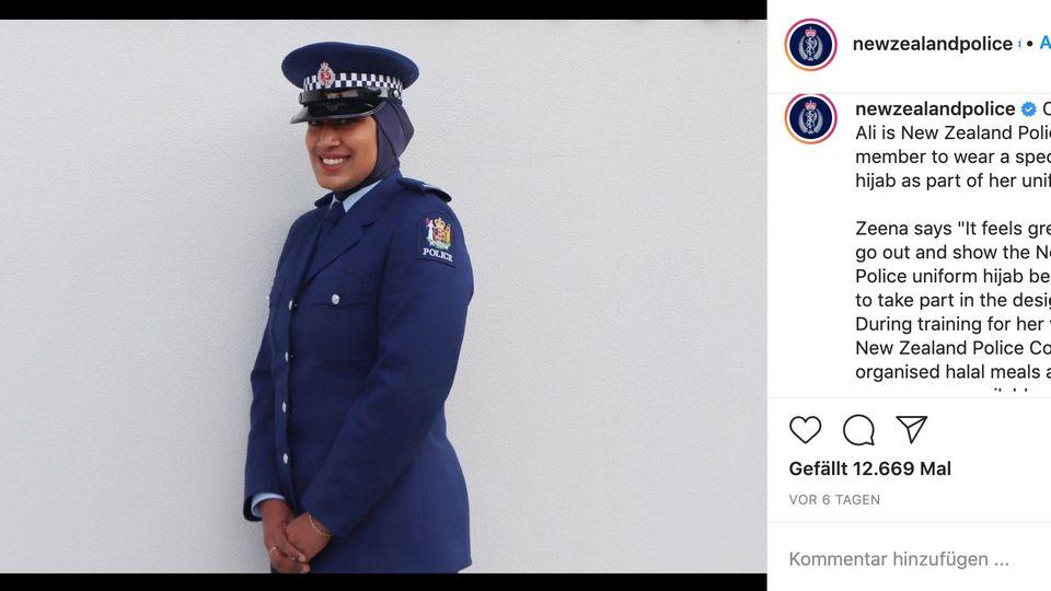 Neuseeland: Polizistin mit Kopftuch