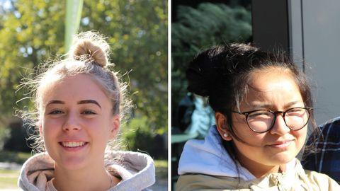 Porträts der beiden Mädchen