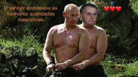 Bolsonaro erntet für Video von Putin-Lob Spott im Internet