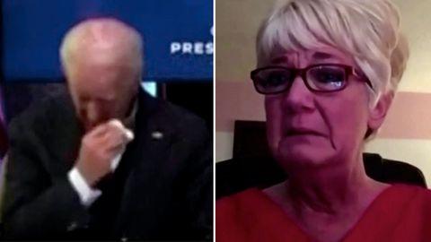 Krankenschwester rührt Joe Biden zu Tränen