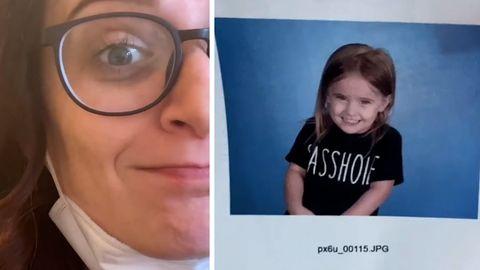 Mutter schickt Tochter mit frechem Shirt zur Schule –ausgerechnet am Fototag