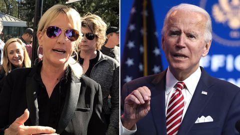 Umweltaktivistin Erin Brockovich und derdesignierteUS-PräsidentJoe Biden