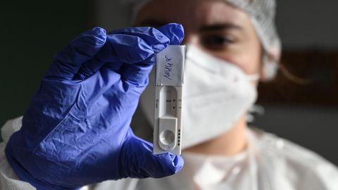 Antigentest auf das Coronavirus