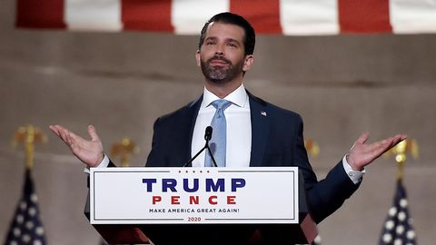 Donald Trump Jr. Coronavirus: Donald Trump Jr. hält eine Rede
