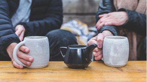 Mann und Frau bei einem Date