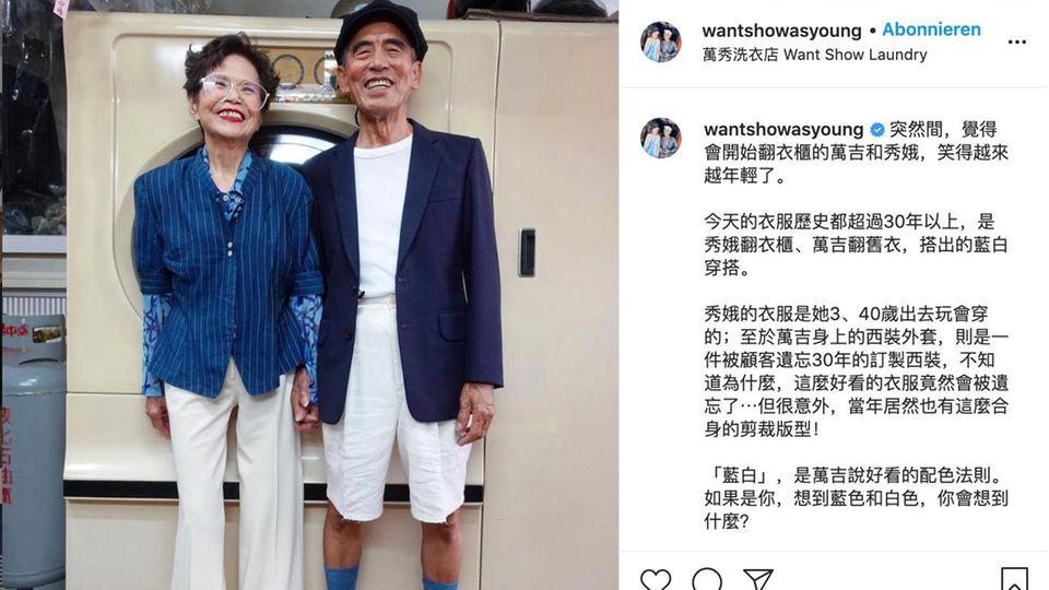 Taiwan: Ehepaar trägt vergessene Klamotten aus seinem Waschsalon auf – und begeistert Instagram